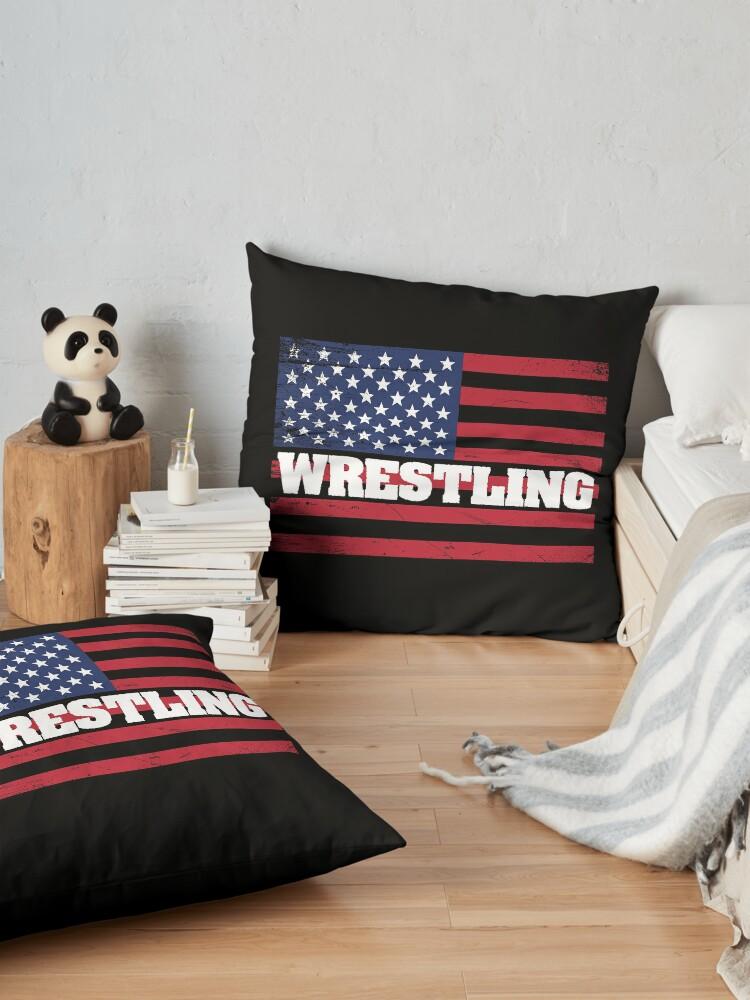 Alternative Ansicht von Wrestling USA Flag Design - Wrestling Bodenkissen