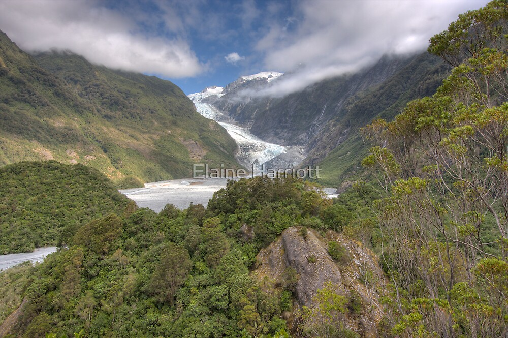 Franz Joseph Glacier - New Zealand by Elaine Harriott