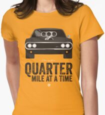 Cinema Obscura Series - The Fast & the Furious - Quarter Mile Women's Fitted T-Shirt