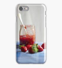 Strawberry in a glass jar iPhone Case/Skin