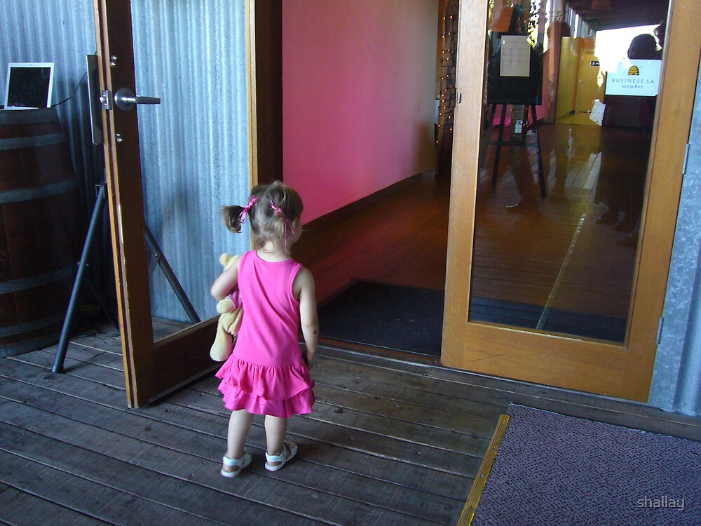 child and door by shallay