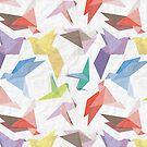 Lovebirds of origami paper by veerapfaffli