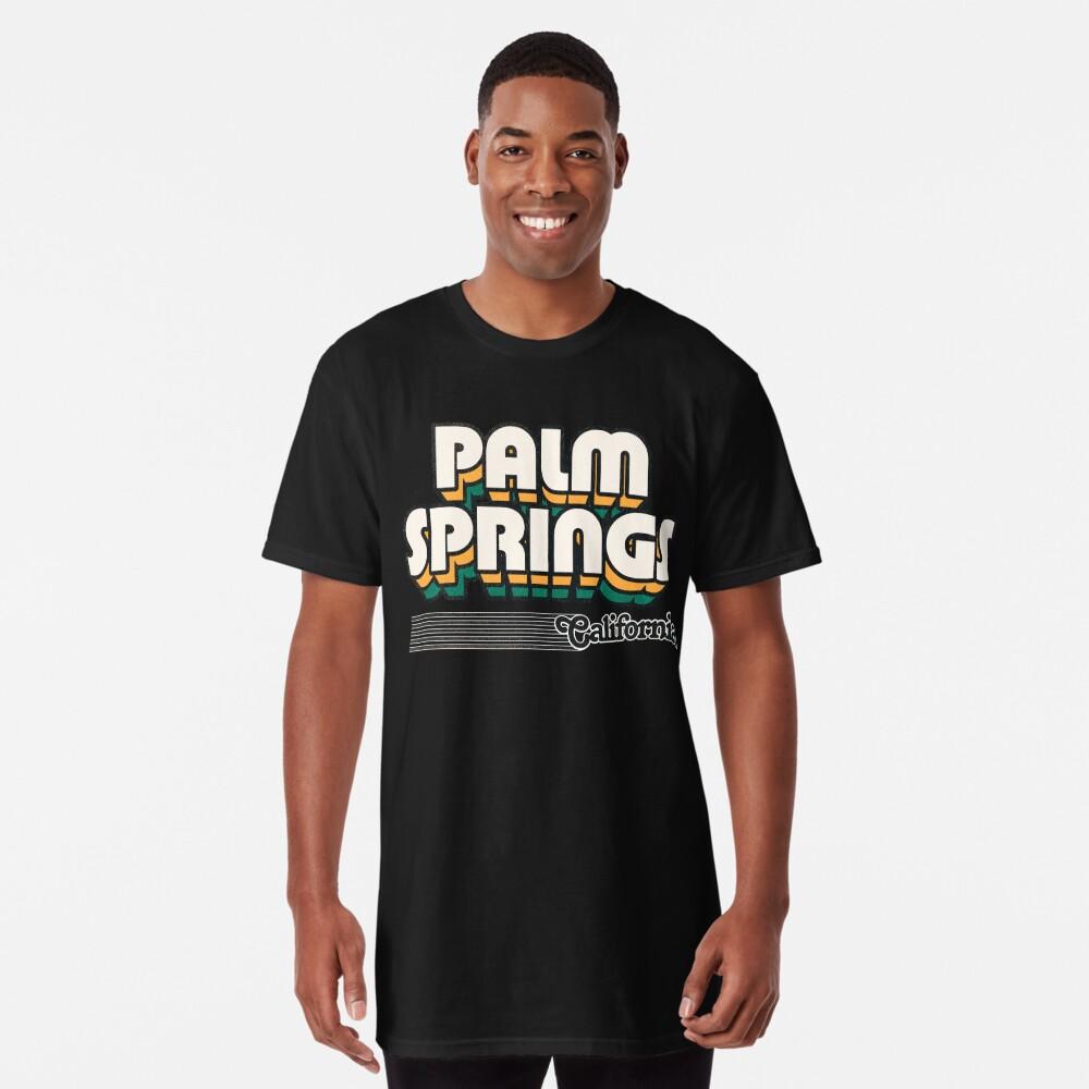 Palm Springs, California   Retro Stripes Long T-Shirt