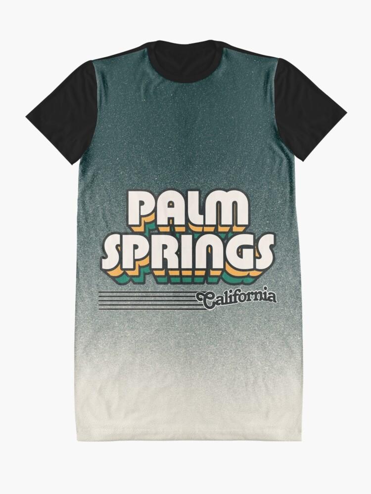 Alternate view of Palm Springs, California | Retro Stripes Graphic T-Shirt Dress