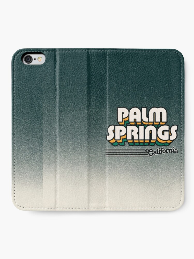 Alternate view of Palm Springs, California | Retro Stripes iPhone Wallet
