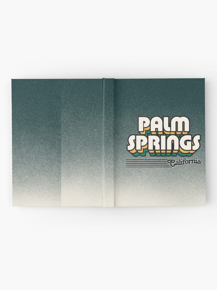Alternate view of Palm Springs, California | Retro Stripes Hardcover Journal