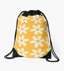 Two-Tone Daisy Pattern Drawstring Bag