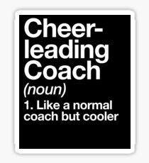 Cheerleading Coach Funny Definition Trainer Gift Design Sticker