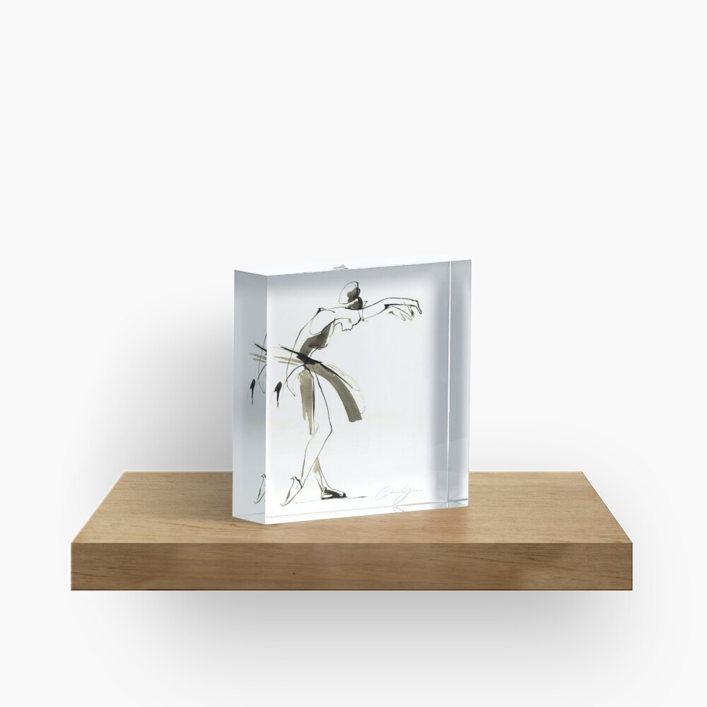 Dance Drawing Acrylic Block