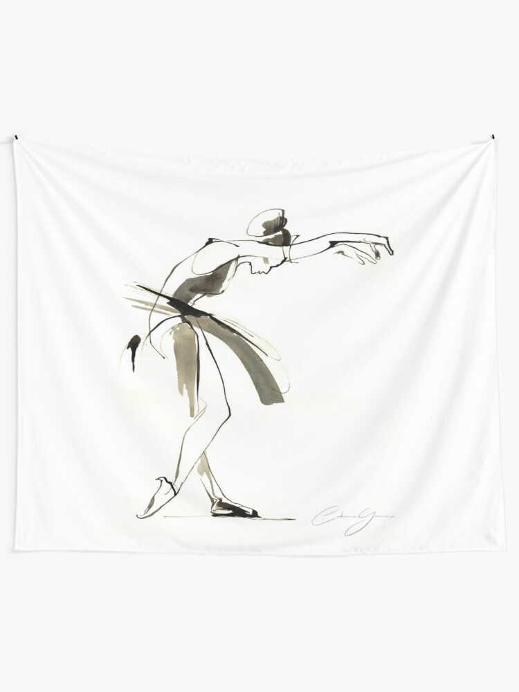 Alternate view of Dance Drawing Wall Tapestry