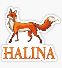 Halina Fox Sticker