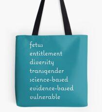 banned words Tote Bag