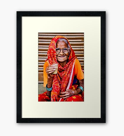 A Lady and Her Chai II Framed Print