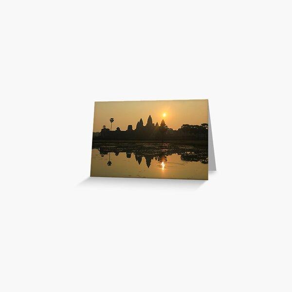 Angkor Wat Temple sunrise Greeting Card