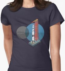 Saturn V Women's Fitted T-Shirt