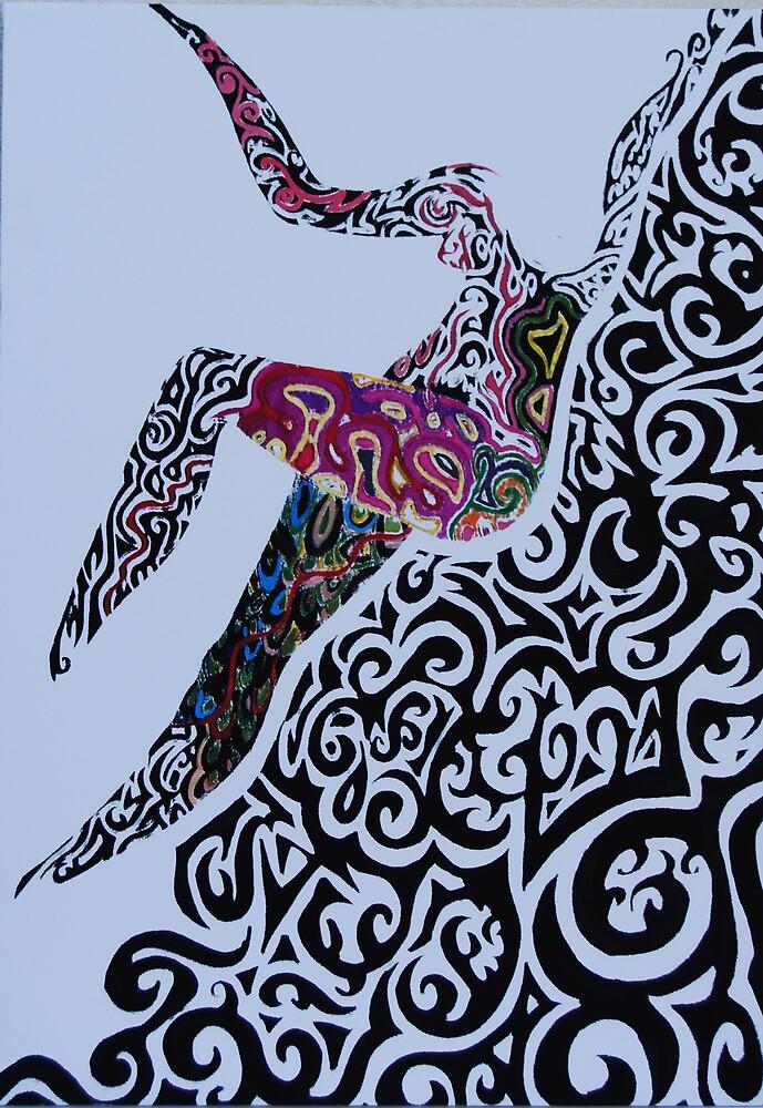 Grafitti woman by Ebla