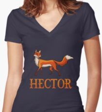 Hector Fox Women's Fitted V-Neck T-Shirt