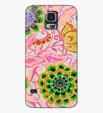 Unique Samsung Galaxy and iPhone Cell Phone Cover with Colorful Illustrated Mandala Design Case/Skin for Samsung Galaxy