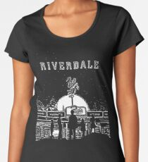 Riverdale Black And White Pop's Chock'lit Shoppe Women's Premium T-Shirt