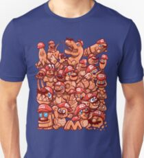Cappy Party - Orange on Blue version Unisex T-Shirt