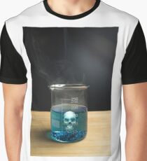 Science Beaker Poison Skull Graphic T-Shirt