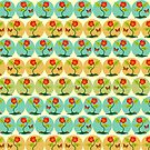 Flowers and bubbles pattern by Gaspar Avila