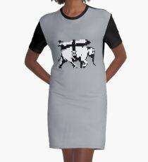 Elephant Bomber Pixel Art Graphic T-Shirt Dress