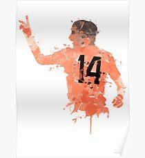 Johan Cruyff - Netherlands Legend Art Poster