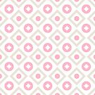 Pink pastel pattern of rhombuses and circles by Steffen Remter