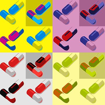 Pills Thrills but many Spills by Artyteeslondon