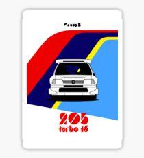 Group B colours | 205 Turbo 16 Sticker