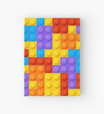 Bight and Colorful Nostalgic Building Blocks  Hardcover Journal