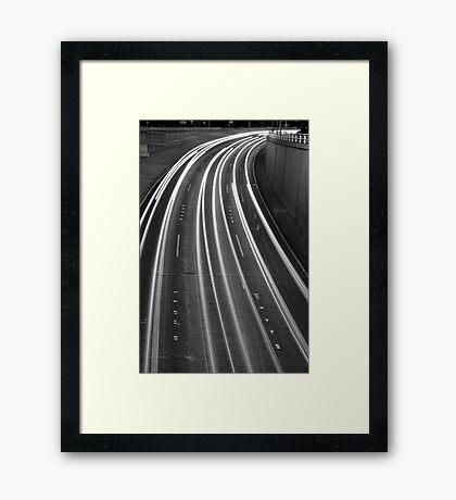 St Kilda light trails Framed Print