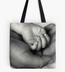 My World In Your Hand Tote Bag
