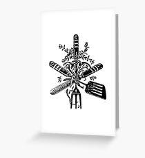 Vintage chef tools Greeting Card