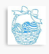 Easter egg basket Canvas Print