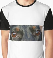 dachshund black and tan eyes Graphic T-Shirt