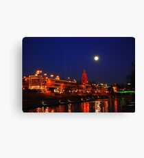 Full Moon over the Country Club Plaza in Kansas City. Canvas Print