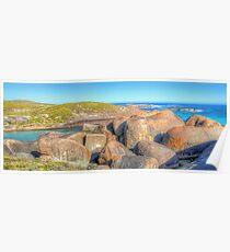 Elephant Rocks Panorama - HDR - Denmark - WA Poster