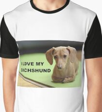 dachshund cream love with picture Graphic T-Shirt