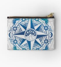 Journey to Moon Mountain | Turquoise Navy Ombré Studio Pouch