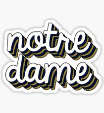 Notre Dame (Stacked) Retro Sticker