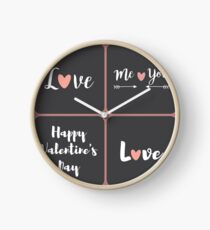 Love me you Kiss Valentines Day Clock