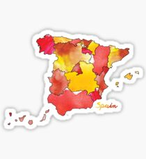 Watercolor Countries - Spain Sticker