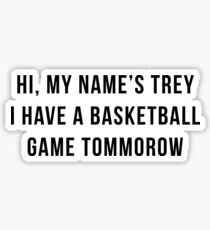 hi, my name's trey - vine quote Sticker