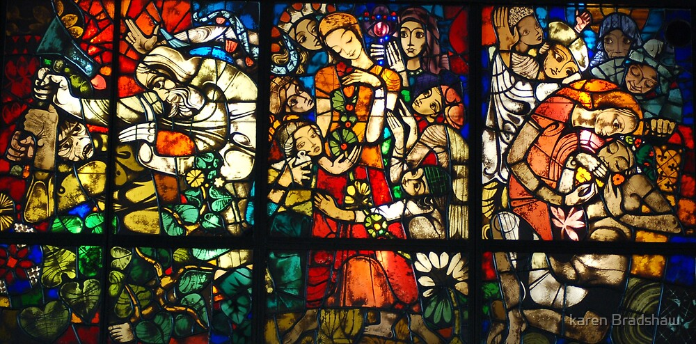 stain glass panel by karen Bradshaw