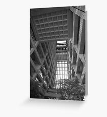 Wilson Hall at Fermilab -  Interior - Black and White Version Greeting Card