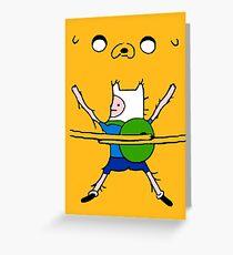 Finn&Jake Hug Greeting Card