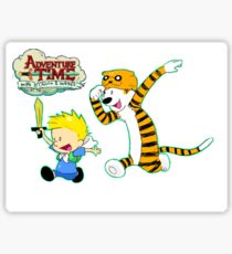 AT with Calvin and Hobbes Sticker
