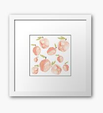 Lots of Watercolor Peaches Framed Print